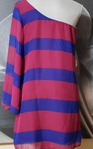 Striped one shoulder dress/top